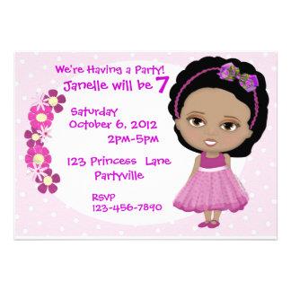 El fiesta lindo del chica invita invitacion personalizada