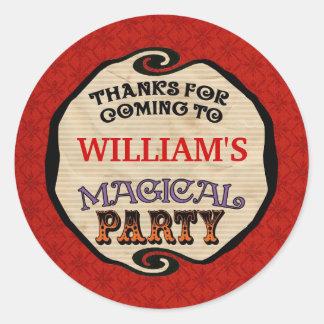 El fiesta mágico le agradece pegatina