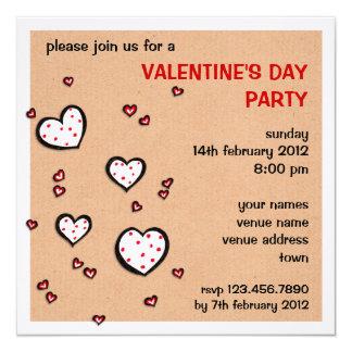 El fiesta manchado del el día de San Valentín de Invitación 13,3 Cm X 13,3cm