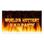 El fiesta más caliente del Bbq del mundo rojo de m Tarjetas De Visita