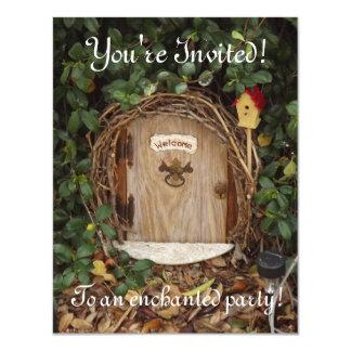 """El fiesta místico de la puerta del jardín del invitación 4.25"""" x 5.5"""""""