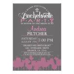 El fiesta moderno de Bachelorette invita Invitación Personalizada