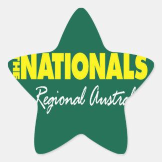 El fiesta nacional (nacionales) 2013 pegatina en forma de estrella