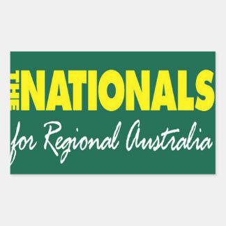 El fiesta nacional (nacionales) 2013 pegatina rectangular