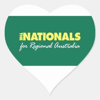 El fiesta nacional (nacionales) 2013 pegatina en forma de corazón