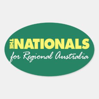El fiesta nacional nacionales 2013 calcomanía ovaladas personalizadas