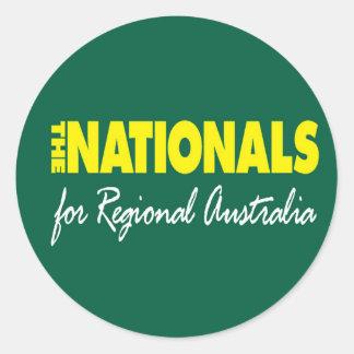 El fiesta nacional (nacionales) 2013 pegatina redonda