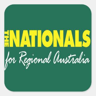 El fiesta nacional nacionales 2013 calcomanía cuadradas personalizada