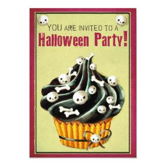 """El fiesta negro de Halloween de la magdalena Invitación 5"""" X 7"""""""