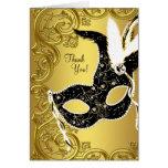 El fiesta negro de la mascarada del oro le tarjeta pequeña