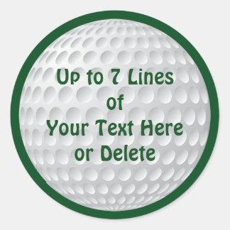 El fiesta personalizado del golf suministra a los pegatina redonda