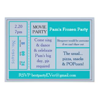 """El fiesta púrpura de la película invita invitación 4.5"""" x 6.25"""""""