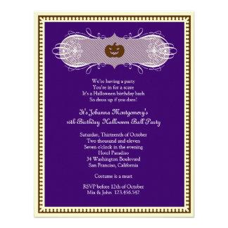 El fiesta púrpura oscuro del traje de la bola de H Anuncio Personalizado