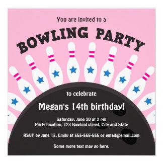 El fiesta que rueda de los chicas invita con los p comunicados personales