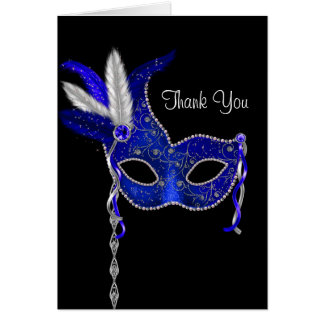 El fiesta real de la mascarada de los azules tarjeta pequeña