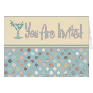 El fiesta retro invita tarjeta de felicitación