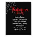 El fiesta rojo de Spiderweb Halloween invita Comunicados