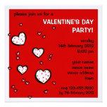 El fiesta rojo del el día de San Valentín de los c Invitacion Personal