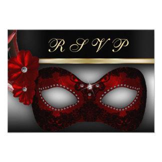 El fiesta RSVP de la mascarada invita Invitacion Personal