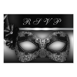 El fiesta RSVP de la mascarada invita Anuncio