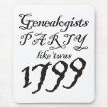 El fiesta tiene gusto de 'Twas 1799 Alfombrilla De Raton