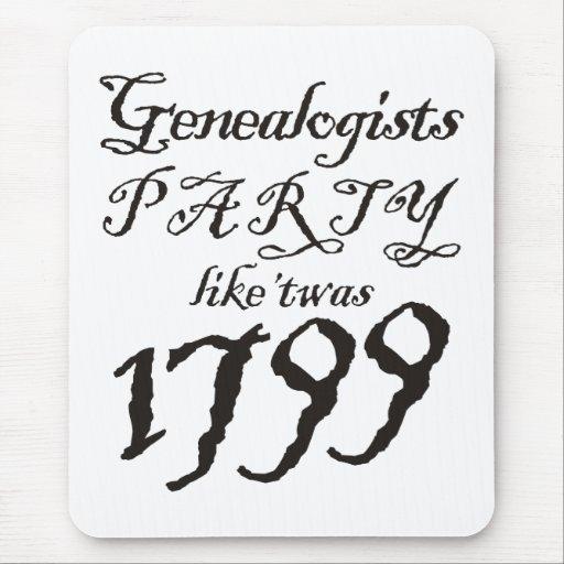 El fiesta tiene gusto de 'Twas 1799 Tapetes De Ratón