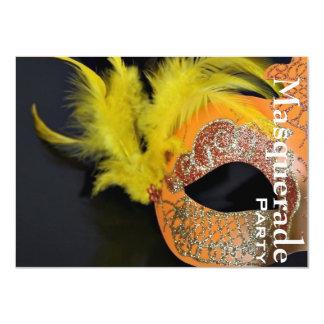 """El fiesta veneciano elegante de la mascarada de la invitación 4.5"""" x 6.25"""""""
