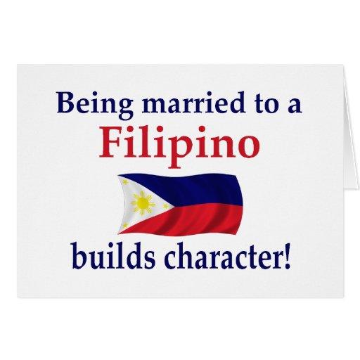 El filipino construye el carácter tarjeta de felicitación