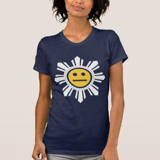 El filipino Sun hace frente - amarillo y blanco Camisetas