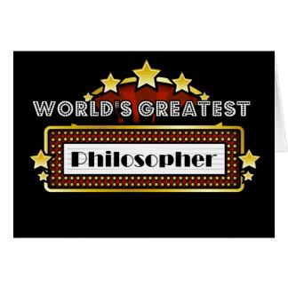 El filósofo más grande del mundo tarjeta de felicitación
