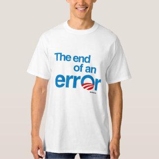 El final de un error - humor de Politiclothes Playera