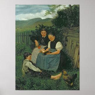 El final del día, 1868 póster