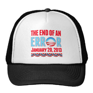 El final error del 20 de enero de 2013 Obama Gorras