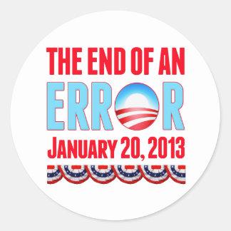 El final error del 20 de enero de 2013 Obama Pegatinas Redondas