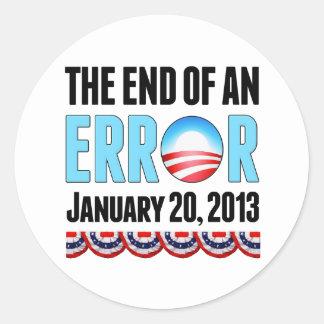 El final error del 20 de enero de 2013 Obama Etiquetas Redondas