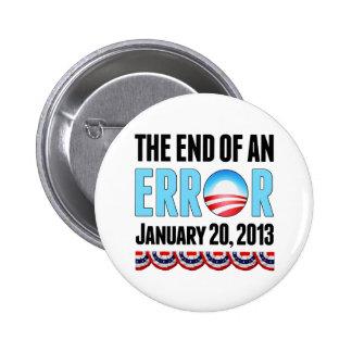 El final error del 20 de enero de 2013 Obama Pin Redondo De 2 Pulgadas