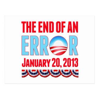 El final error del 20 de enero de 2013 Obama Postal