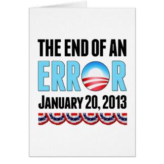 El final error del 20 de enero de 2013 Obama Tarjeta De Felicitación