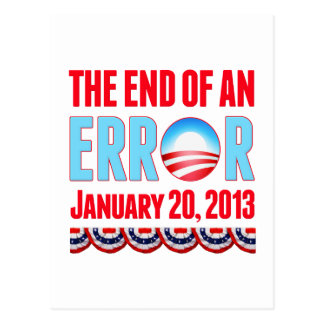 El final error del 20 de enero de 2013 Obama Tarjetas Postales