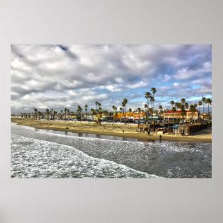 """""""El final playa CA de Newport de un día"""" Impresiones"""