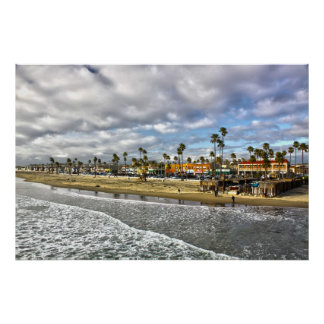 """El final playa CA de Newport de un día"" Póster"
