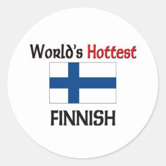 El finlandés más caliente del mundo pegatina redonda