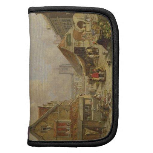 El Fishmarket viejo, Norwich, 1825 (aceite en el p Planificador