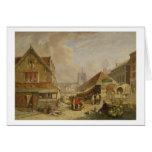 El Fishmarket viejo, Norwich, 1825 (aceite en el p Felicitaciones
