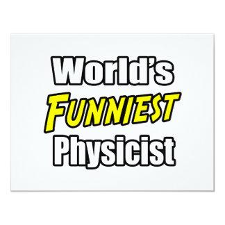 """El físico más divertido del mundo invitación 4.25"""" x 5.5"""""""