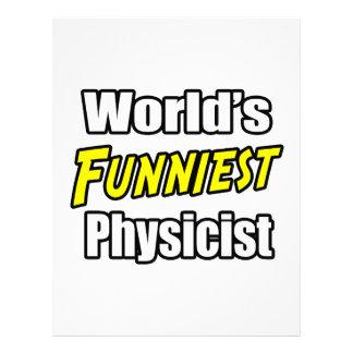 El físico más divertido del mundo plantilla de membrete