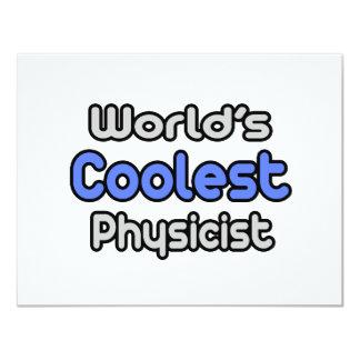 """El físico más fresco del mundo invitación 4.25"""" x 5.5"""""""