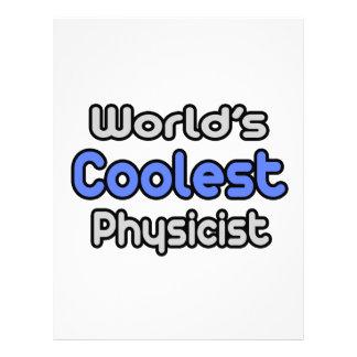 El físico más fresco del mundo plantilla de membrete