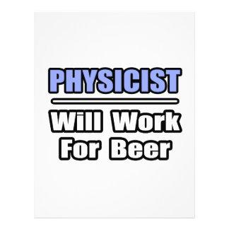 El físico… trabajará para la cerveza membrete personalizado