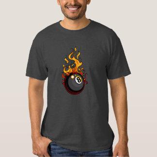 El flamear camiseta de ocho billares de la bola poleras